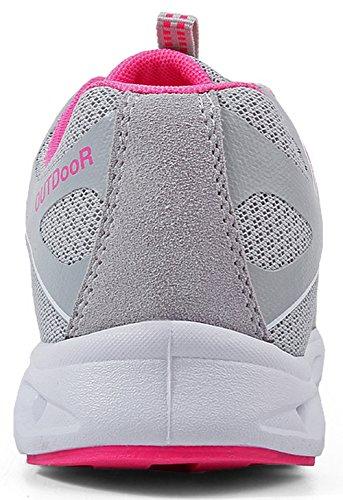 Ultraleicht Unisex 6 45 Outdoorschuhe mit Turnschuhe Hellgrau EU 36 Sneaker SEECEE Atmungsaktiv Farben q4nT5qg