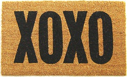Geo Crafts Vinyl Back XOXO Doormat