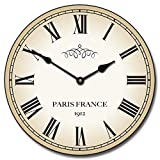 1912 Paris Wall Clock, Available in 8 sizes, Whisper Quiet, non-ticking offers