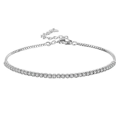 Yslin 925 Argento Fashion Bracciale Elegante Bracelet Moda Minimalista  Wristband Regolabile bracciali Squisito Compleanno Regalo e Due Ori,  Colore Argento,