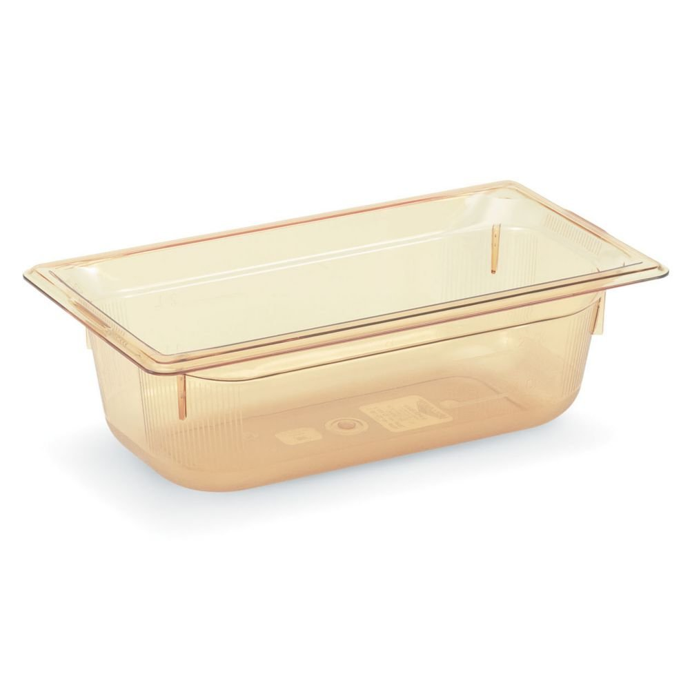 Vollrath 9038410 Super Pan Amber 1/3 Size x 8'' D Food Pan