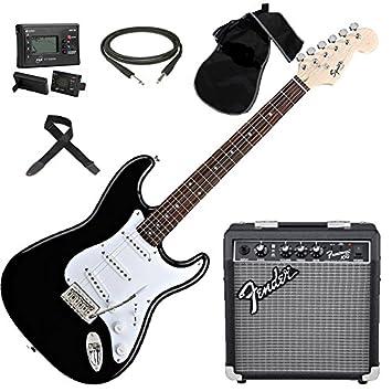 Fender - Squier Stratocaster Bullet SSS BK, kit amplificador con accesorios y afinador: Amazon.es: Instrumentos musicales