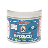 Thayers Medicated Witch Hazel with Organic Aloe Vera Formula Astringent Pads 60 ea