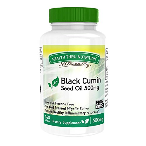 Black Cumin Seed Oil 360 Softgels 500mg First Cold Pressed - Non-GMO
