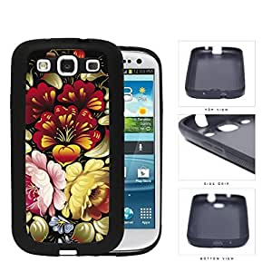 Colorful Vintage Floral Abstract Painting Hard Rubber TPU Phone Case Cover Samsung Galaxy S3 I9300