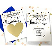 Pregnancy Scratch Off Card for Husband - Baby Reveal - New Daddy Announcement