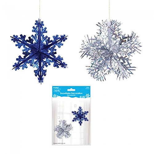 Holiday Essentials 3D Hologram Hanging Snowflake by