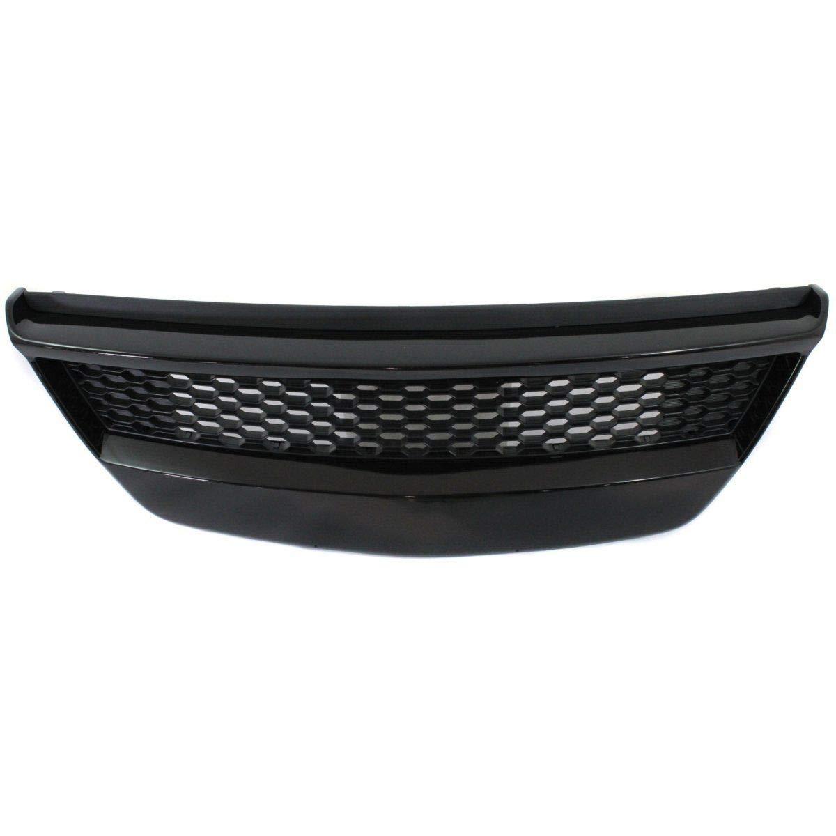 New Front Bumper Grille For 2010-2013 Kia Forte Type Black Coupe KI1036108