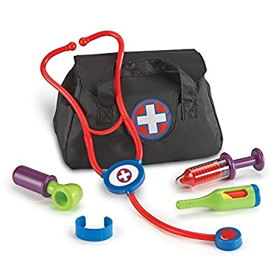 Learning Resources New Sprouts Cure It! Doctor Kit for Kids, Pretend Play Doctor Set, 6 Pieces, Ages 2+: Toys & Games