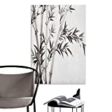 great bamboo wall decals Brandosn 3D Murals Stickers Wall Decals Bamboo Traditional Bamboo Leaves Meaning Wisdom Growth Renewal Unleash Your Power Artprint Grey White Rental House Wall W8 x H10