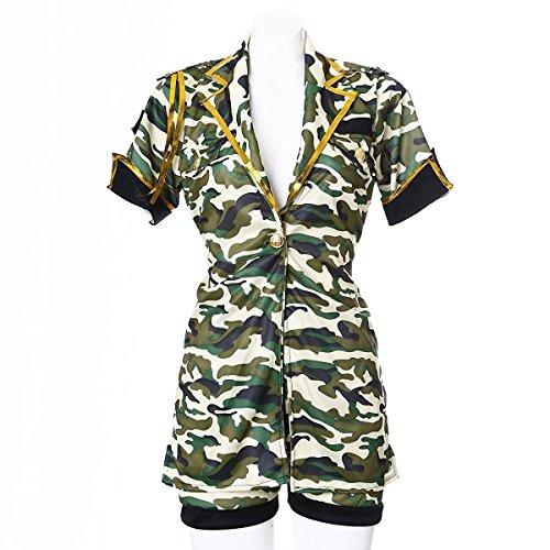 [Veroman Women's Halloween Costume (Army)] (Sexy Military Costumes)