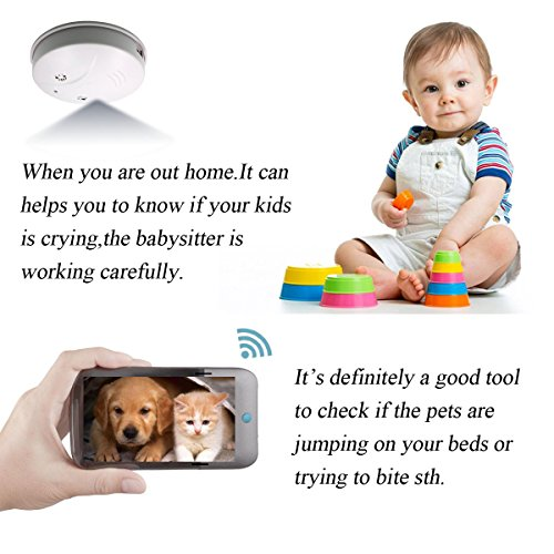 Sunsome Upgrade WiFi Hidden Spy Camera Smoke Detector,HD 1080P Nanny Cam Motion Detection Wireless Mini Video Recorder for Home Security,Support iOS/Android/PC/Mac