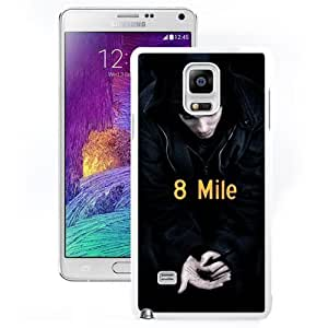 Nice and Durable Note4 Case Design with 8 Mile 2 White Phone Case for Samsung Galaxy Note 4 N910S N910C