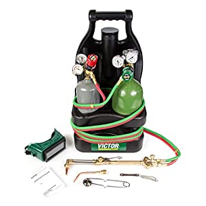 Victor Portable Tote Torch Kit Set Cutting Outfit With Cylinders, 0384-0944