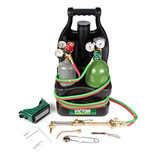 Victor Portable Tote Torch Kit Set Cutting Outfit With Cylinders, ()