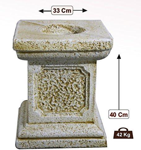 DEGARDEN Pedestal Columna de hormigón-Piedra para jardín o Exterior 33X40cm.: Amazon.es: Jardín