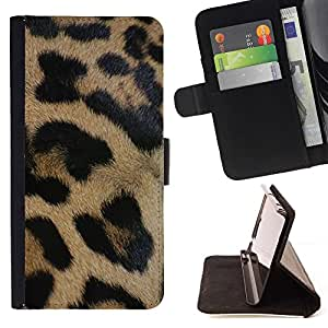 Momo Phone Case / Flip Funda de Cuero Case Cover - Brown Fur Black Pattern - Samsung Galaxy S3 III I9300