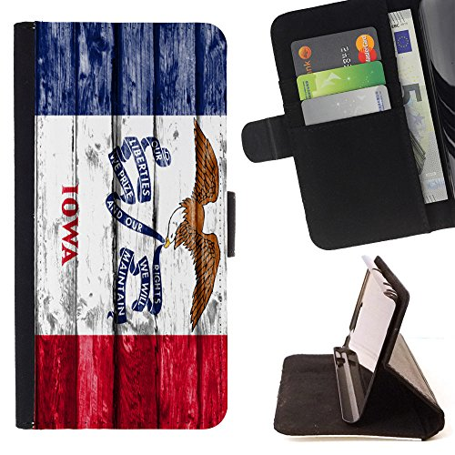 FJCases Iowa The Hawkeye State Wood Pattern Flag Slim Wallet Card Holder Flip Leather Case Cover for Samsung Galaxy J3 Emerge/Galaxy J3 Prime/Galaxy J3 Eclipse/Galaxy J3 - Hawkeyes Iowa Mens Leather