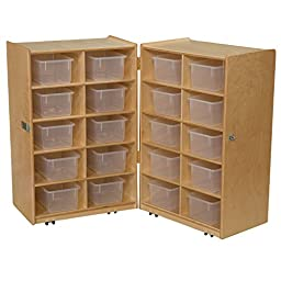 Wood Designs 16201 Folding Vertical Storage with 20 Translucent Trays (Pack of 2)