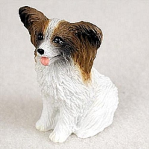 Brown Tiny One Figurine - Papillon Brown & White Tiny One Figurine