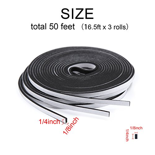 adhesive-foam-tape-high-density-sound-proof-insulation-closed-cell-foam-seal-weather-stripping-14-inch-wide-x-18-inch-thick-x-50-feet-long-14in-18in