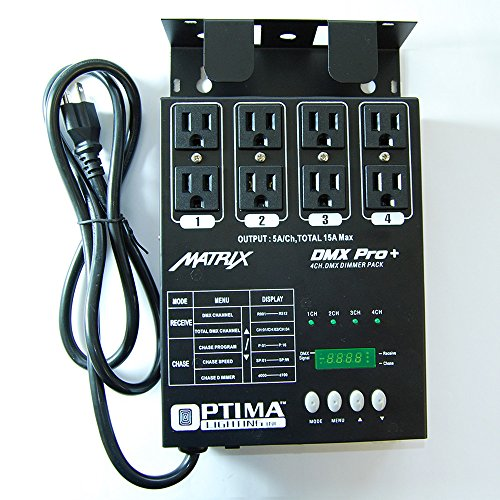 MATRIX DMX PRO 4 Channel Double Output Dimmer Pack by Optima Lighting