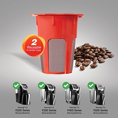 Housewares Solutions 2 Refillable/Reusable Carafe K Cup Filters for Keurig 2.0, K200, K300, K400, K500 Series of Brewing Machines by Housewares Solutions (Image #6)