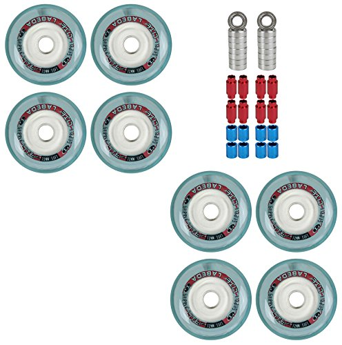 Labeda Wheels Inline Roller Hockey Gripper Lite Micro 72mm Soft 8 Pack WBearings ()