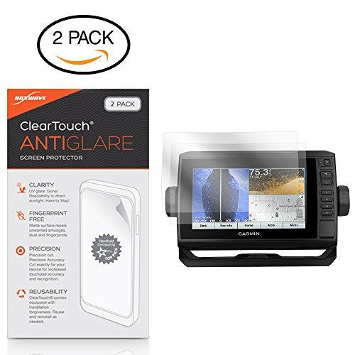 Boxwave Cleartouch Screen Protector - BoxWave Garmin echoMAP Plus 73cv Screen Protector, [ClearTouch Anti-Glare (2-Pack)] Anti-Fingerprint Matte Film Skin for Garmin echoMAP Plus 73cv