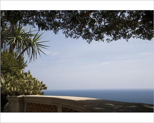 Photographic Print of View from the Exotic Garden, Monaco, Cote d Azur, Mediterranean, Europe - Monaco Exotic Gardens