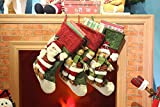 "Classic Festive Decor Christmas Stockings 3D Cute Cartoon Reindeer Stocking (18"")"