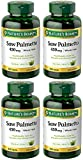 Natural Saw Palmetto 450 mg, 4 Bottles (250 Count)