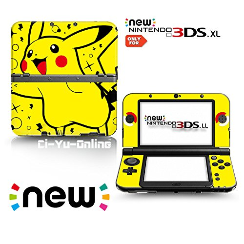 Ci-Yu-Online VINYL SKIN [new 3DS XL] - Pokemon Pikachu Yellow Spark - Limited Edition STICKER DECAL COVER for NEW Nintendo 3DS XL / LL Console System