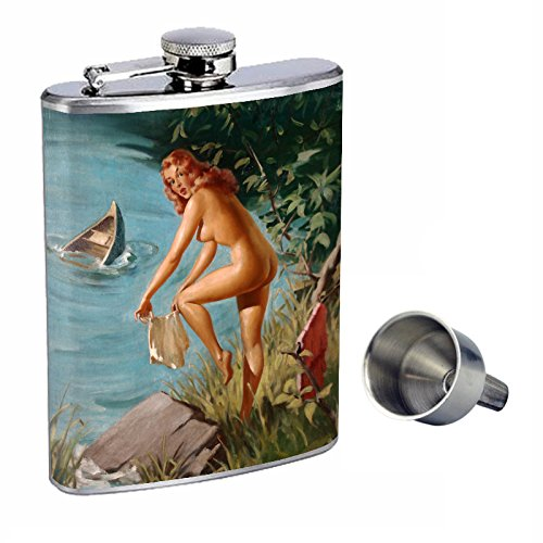 【期間限定】 Pin Up Girl Perfection Girl inスタイル8オンスステンレススチールWhiskey Flask with Up Free Flask Funnel d-177 B015QNA2JO, Life&Design VIDA:093fd84d --- tadevakaryam.com