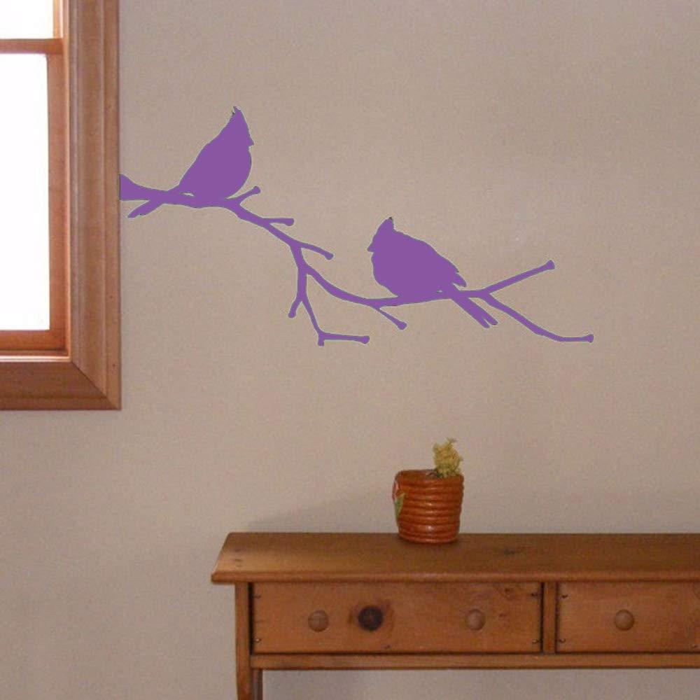 Cardenales en una rama Vinilo Tatuajes de pared Naturaleza ...