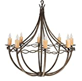 Norfork 8 Arm Chandelier, Amber