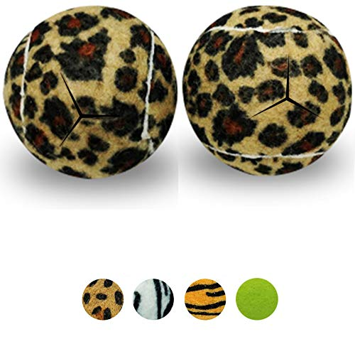 Star Top Deluxe Pre Cut Walker Tennis Ball Glides - Walkers Legs Universal Precut Glide Balls, Accessories Gifts for Elderly Seniors or Medical Rehab (Leopard)