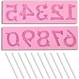 homEdge Molde de silicona para números 3D para decoración de tartas, apto para aniversario.