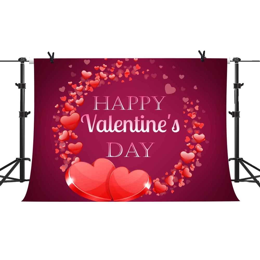 ハッピーバレンタインデー背景 ロマンチックな赤いハート 写真背景 ビニール 10x7フィート 写真背景 スタジオ小道具 PHMOJEN PPH550   B07JZB1PDB