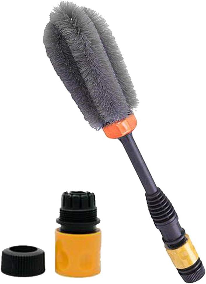 Yellow Microfiber Wheel /& Rim Brush for Car Trunk Motorcycle Bike Car Tire Engine Washing Tool Detailing Cleaner