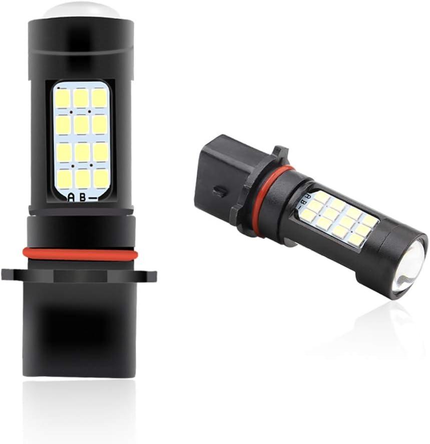 2Pcs//Set H4 2835 42 SMD LED Voiture Feu de Brouillard Ampoule Moto Lumi/ère Super Brillant X/énon Blanc 6500K Faisceau Antibrouillards DC 12V
