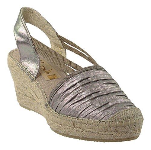 Vidorreta - Sandalias de vestir de Piel para mujer gris gris plata