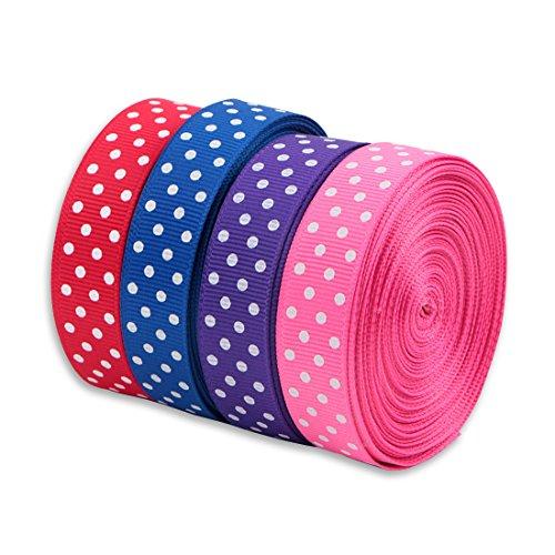 Perhomeaid 100 Yard 5 8  Polka Dot Grosgrain Ribbons For Diy Bowknot  Hair Ornaments  Gift Packaging