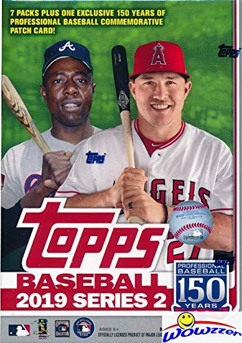 2019 Topps Series 2 MLB Baseball EXCLUSIVE Factory Sealed Retail Box with 98 Cards & SPECIAL MLB 150th Anniversary Commemorative PATCH! Loaded with Rookies & Inserts! Look for Autos & -