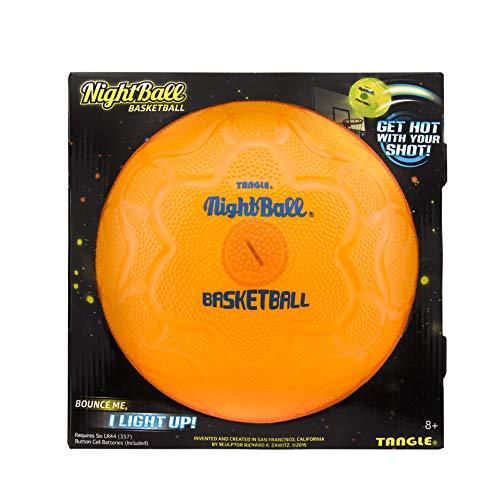 Nightball Tangle Glow in The Dark Light Up LED Basketball, Orange]()