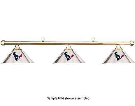 NFL Houston Texans Chrome Shade U0026 Brass Bar Billiard Pool Table Light