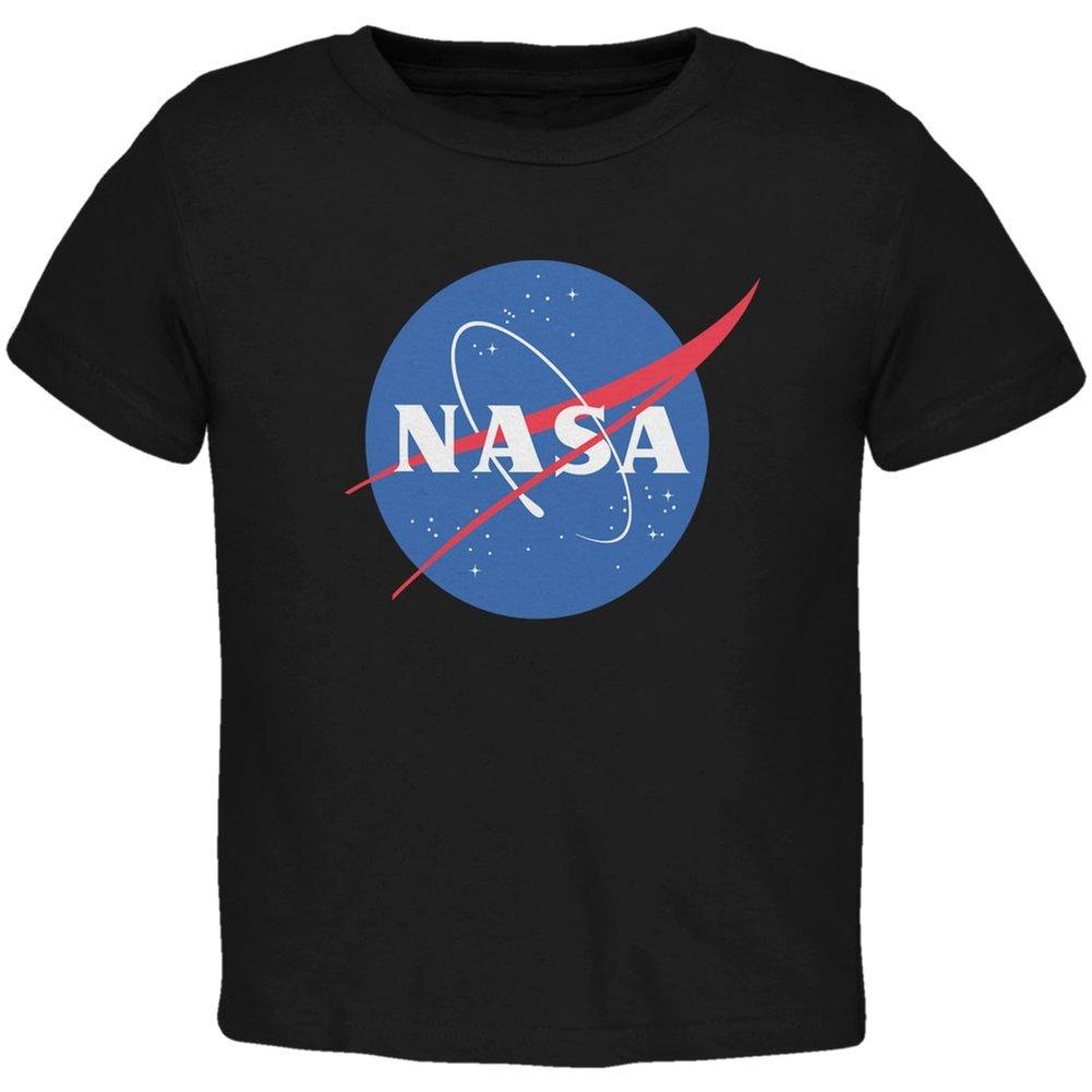 NASA Logo Black Toddler T-Shirt Tees Plus