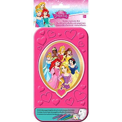 Disney Princess Sticker Activity Kit Party Favour, Paper, 4