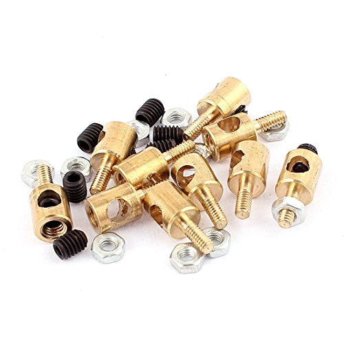 uxcell 10pcs 5mm x 3mm Pushrod Linkage Stopper Metal for RC Model w Nuts