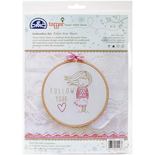 DMC Follow Your Heart Charles Craft/Tamar Embroidery Kit, 8
